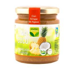 Mermelada piña y coco con sirope de agave