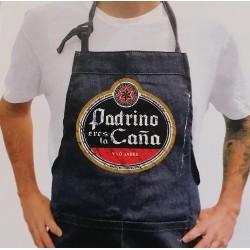 """Delantal tejano """"Padrino eres la caña"""""""