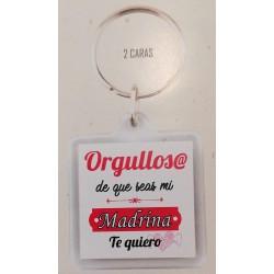 """Llavero """" Orgullos@ de que seas mi madrina"""""""
