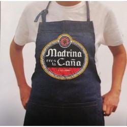 """Delantal tejano """"Madrina eres la caña"""""""