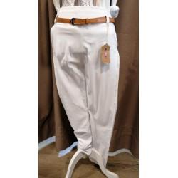 Pantalón blanco elástico